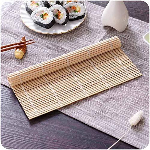 Liquidation de rideau de bambou, rouleau de riz à sushi Rouleau de bambou Maker de bricolage Tapis de sushi Outil de cuisine Fabrication de sushi, Cuisine , pour Pâques et St Patrick, Jaune