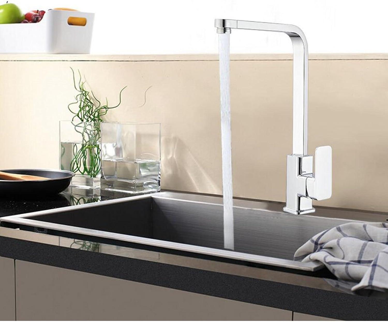 HHRONG Bad Küche Wasserhahn Waschbecken Standard Waschbecken Hei und Kalt Wasserhahn Kupfer Mischventil