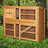 4ft Chartwell Double Luxury Guinea Pig Rabbit Hutch | Perfect Outdoor & Indoor Rabbit Hutch for 2 Rabbits Or Guinea Pigs | The Biggest 4ft Hutch On Amazon