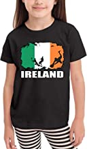 SHIRT1-KIDS Ireland Flag Football Rugby Player Toddler/Infant Crew Neck Short Sleeve Shirt T-Shirt for Toddlers