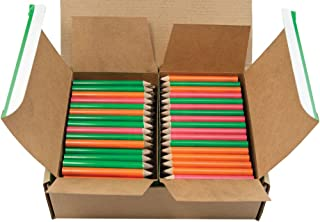 Mood Half Pencil (Heat Activated Color Changing Pencils) (Thermochromic) (Assorted Pack (Green, Orange, Red) (No Eraser) (Round) (Golf Pencils, Pew Pencil, Score Pencil Short Pencil)(Bulk Box of 288)