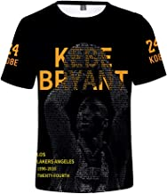 Camiseta de Manga Corta para Hombre Lakers Kobe Bryant Camiseta Mamba Camiseta # 24 Jersey M-4XL