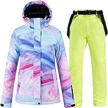 Women's Jackets Ski Suit Set Windproof Waterproof Ski Snowboard Warm Winter Outdoor Hooded Ski Suit
