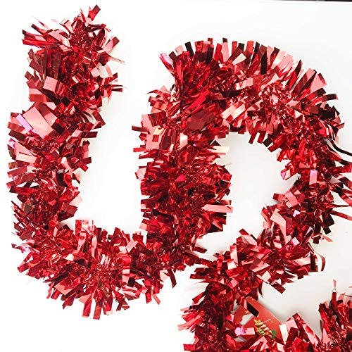 AURSTOR BASA Christmas Garland for Tree – Approx 2 Metres (Red)