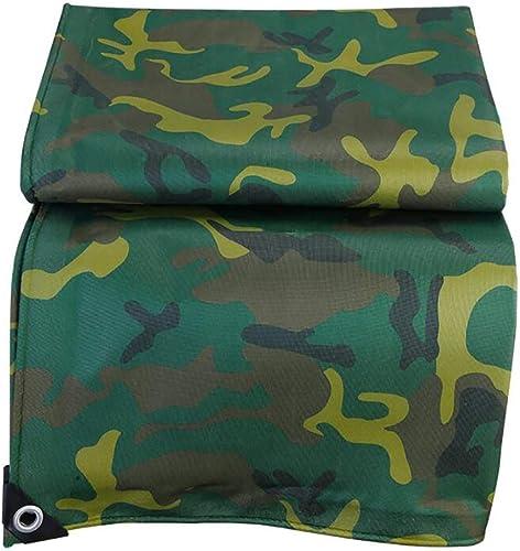Baches Camouflage pour Camping Shelter Tent TarHeavy Duty Imperméable Camo vert Tarp 0.35mm épais (Taille  5x6M)