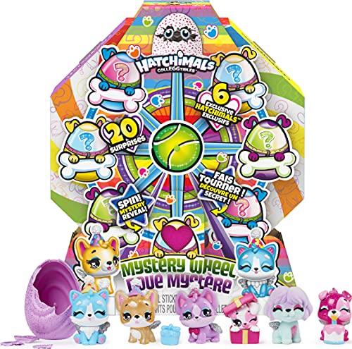 Hatchimals 6059963, Puppy Party with Surprises to Open, for Kids Aged 5 and Up CollEGGtibles, Welpenparty Mystery Wheel mit 20 Überraschungen zum Öffnen, für Kinder ab 5 Jahren, grau