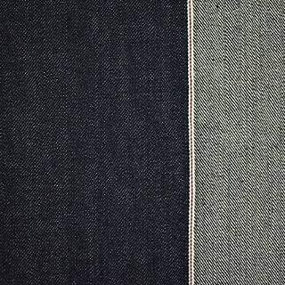 Deep Indigo Blue Cotton Japanese Selvedge Denim, Fabric by The Yard