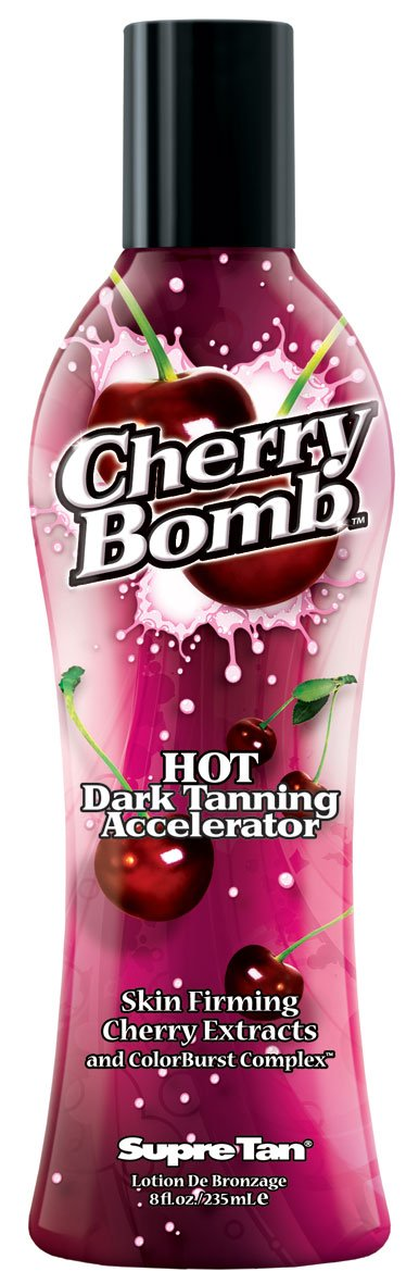 In stock Supre Cherry Bomb Red Hot Dark Tanning Low price oz. 8 Accelerator Lotion