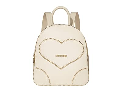 LOVE Moschino Embroidery Of Love Backpack (Ivory) Backpack Bags