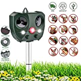 Cat Repellent for Gardens, SmartUK Ultrasonic Cat Scarer for Outdoor Solar Powered Fox