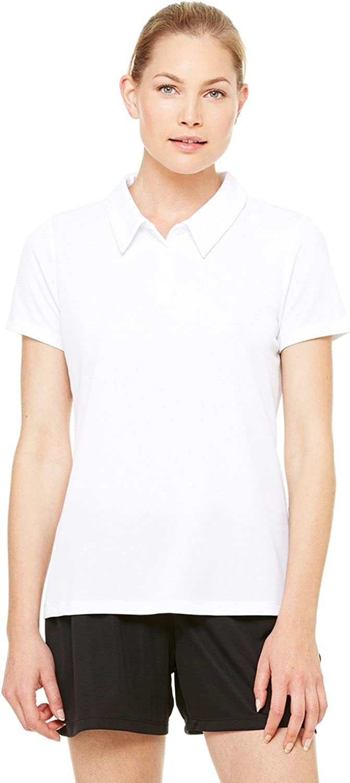Alo Ladies Junior Fit Performance Mesh Polo Shirt. W1709 Medium White