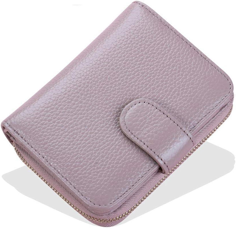 Girls Purse Women's Wallet,Short Lady Purse Zipper Card Bag 2.5  9  11.5cm, (color   A)