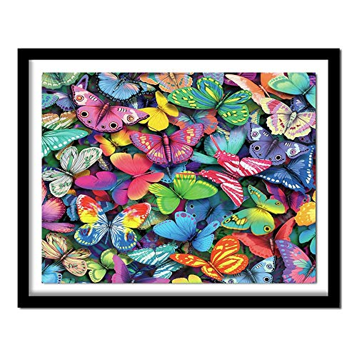 5d diamond painting DIY Colorful butterfly embroidery full diamond art craft picture supplies40x40cm No frame
