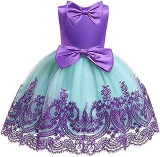 فساتين حفلات الزفاف الرسمية من HainGexon للفتيات الصغيرات من الدانتيل بدون ظهر بفيونكة من الظهر