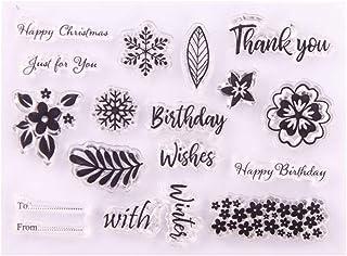 Tampons en silicone transparents, vœux d'anniversaire à faire soi-même - Sceau en silicone transparent - Pour scrapbookin...
