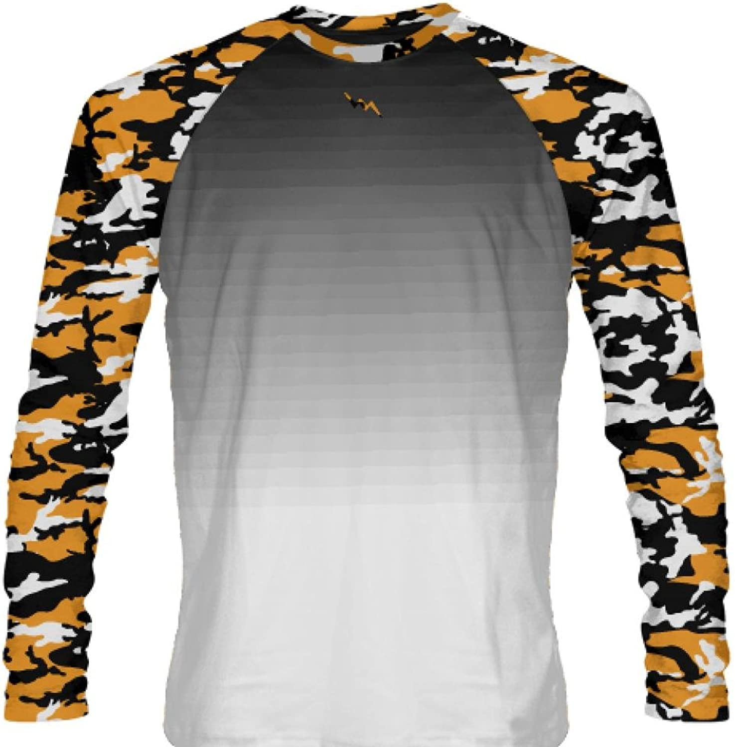 LightningWear orange Camouflage Long Sleeve T Shirts