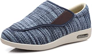 CCSSWW Chaussures Large Et Confortable pour Pieds GonfléS,Chaussures de Coussin Spatial pour Les Pas-Bleu Clair_49,Hommes ...