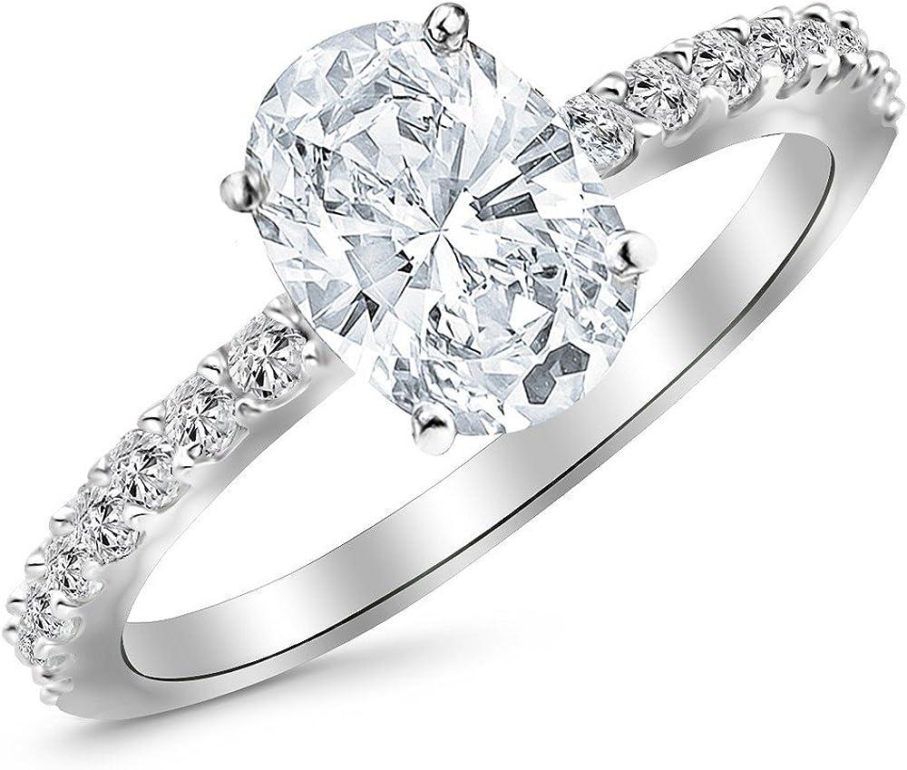 14K Fresno Mall White Gold Challenge the lowest price of Japan 1.25 Carat LAB CERTIFIED Classi DIAMOND IGI GROWN