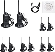 BAOFENG Walkie Talkies with Earpieces Mic and Reachargeble BF-888SA (10 Packs) for Adults Trolling Camping Hiking Hunting Travelling 2 Way Radios
