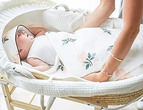 Anbenser Newborn Baby Swaddle Blanket Large Swaddle Best Soft Unisex for Boys & Girls (Thin,8385cm, Rose)