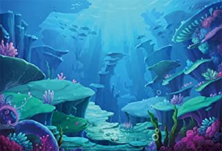 Underwater Sea Photography Backdrops Background Cloth Baby Birthday Party Prop