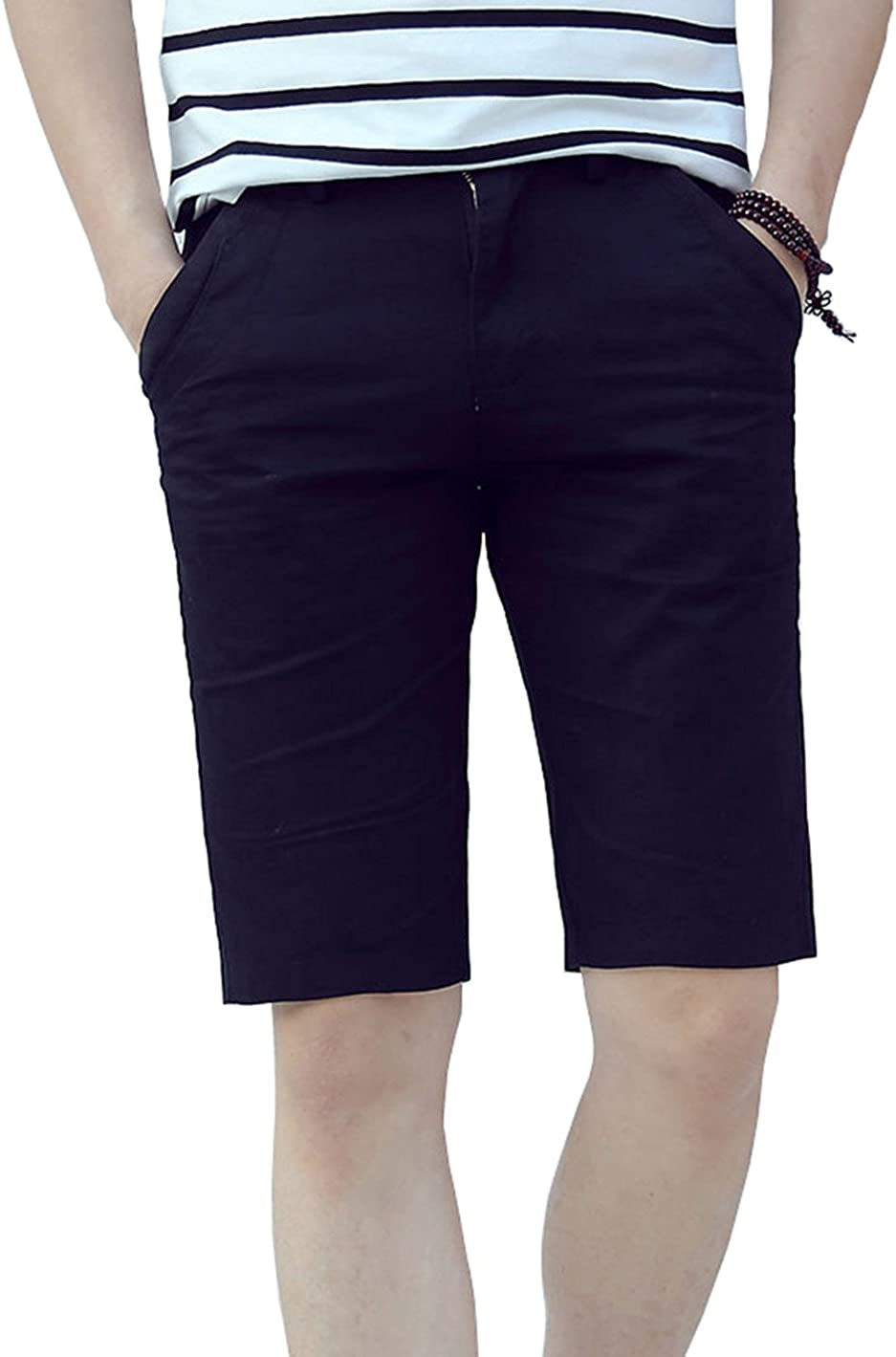 XTAPAN NEW Men's Daily bargain sale Slim Fit Flat Front Sho Shorts Chino Casual Stretch