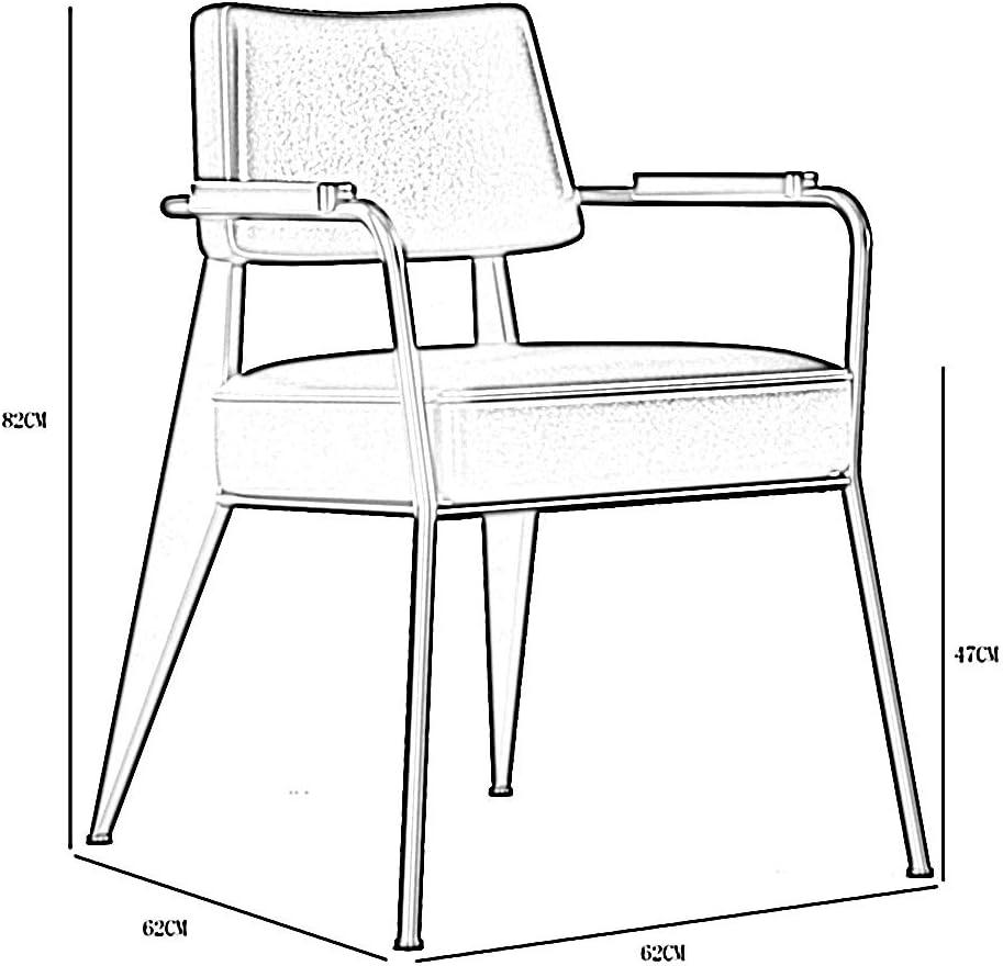 LJFYXZ Chaises Salle Manger Chaise de Bureau de Loisirs Coussin en PU Chaises canapés avec accoudoirs en Bois Massif Porteur 150kg 62x62x82cm (Color : Black) Dark Brown