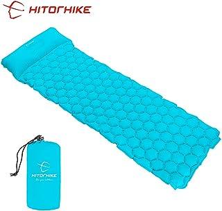 HITORHIKE Backpack Sleeping Pad | Lightweight Camping Sleeping Bag Pad | Ultralight & Compact & Inflatable Air Mattress Pa...