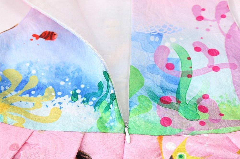 WNQY Moana Little Girls Printed Princess Dress Cartoon Party Dress