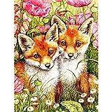 Pinte por número Fox Lovers DIY Juego de Pintura al óleo 40 * 50 CM Lienzo sin Marco decoración del hogar acrílico Pintura de Arte Moderno.