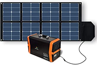 SUNGZU Solar Panel, 100W Waterproof Foldable Charger Panel with DC Outputs 32V/2.7A for Cellphone, Laptops and Generator