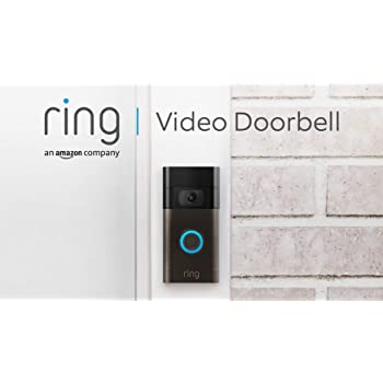 Nuovo Ring Video Doorbell | Videocitofono con video in HD a 1080p, rilevazione avanzata del movimento e facile installazione (Seconda Generazione)