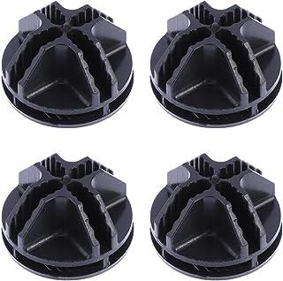 Vosarea 20 Piezas de Conectores de plástico Cubo de Alambre para Armario Organizador Modular y Almacenamiento de Cubo de Rejilla de Alambre (Negro)