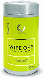 Colortrak Hair Color Remover Wipes Dispenser, Moist, Non-irritating Towelettes, Formulated with Aloe, Easily Remove Hair Color Stains from Skin, Convenient Canister, 100 Wipes