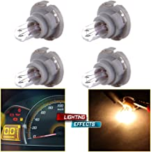 cciyu 4 Pack Warm White T5/T4.7 Neo Wedge Halogen A/C Climate Control Light Bulbs 12V