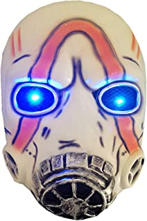 Cafele LED Light Up Game Borderlands 3 Psycho Mask Scary Halloween Cosplay Props - Breathable White