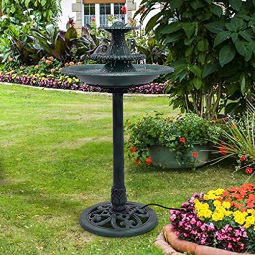 3 Tier Fountain Garden Decor Pedestal Outdoor Bird Bath Water Fountain W/Pump