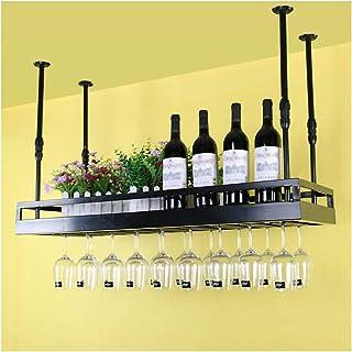 BHH-wine rack Porte-Bouteilles De Vin Porte-Verre À Vin Suspendu Armoire À Vin en Verre Porte-vin Mural Hauteur Réglable ...
