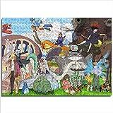 Educational Game Jigsaw Puzzle Hayao Miyazaki Spirited Away Sky Castle Princess Mononoke Nausicaä of The Valley of The Wind My Neighbor Totoro 1000 Pcs Wooden Puzzle