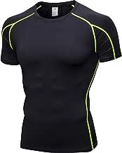 YOSICIL Herren Kompressionsshirt Kurzarm Funktionsshirt Laufshirt Atmungsaktiv Sportshirt Männer T-Shirt für Fitness Running Jogging Gym 10 Farben auswählbar