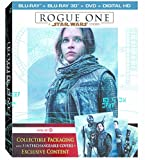 Rogue One: A Star Wars Story - 3D Blu-ray DVD Digital HD plus Exclusive Content Disc with Collectible Packaging and 5 Interchangeable Covers