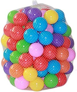 Kaptin 5.5cm Soft Plastic Ocean Ball,Colorful Ball Fun Ball Kids Ball Swim Pit Toy Ball Tent Toddler Ball (100pcs)