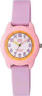 Q&Q Women's White Dial Silicone Band Watch - VR97J002Y