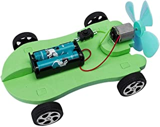 Wind Power Car, Assembly DIY Fun Educational Toys Handmade Electric Science Experiments Kit Toy Car for Preschool Education Toy for Kids