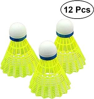 BESPORTBLE Pack of 12 Nylon Shuttlecocks Hight Speed Badminton Ball for Badminton Training Yellow
