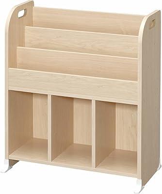 アイリスオーヤマ(IRIS) おもちゃ箱 ライトメープル 幅63×奥行34.7×高さ75.3cm 絵本ラック ER-6030