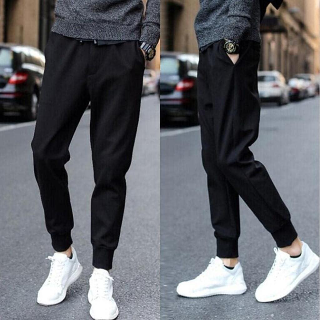 Beshion Men's Pants Slim Fit Joggers Sweatpants Straight-Leg Yoga Pants Running Workout Lounge Pajamas Pants with Pockets