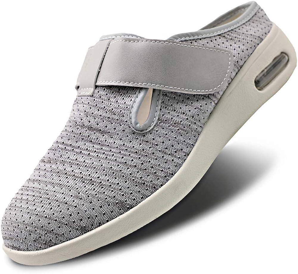Men Diabetic Flat Slide Slip on Adjustable Boston Bargain sale Mall Sandals Edema Shoes