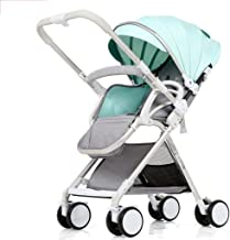 PLDDY Pet Bag Infant Strollers Pram Lightweight Travel System, Compact Fold Pushchairs Joggers, Carrycot and Rain Cover, Front Swivel Wheels and 4 Wheel with Brakes