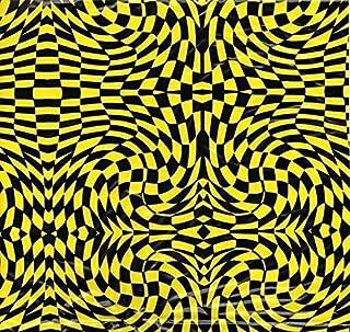 Black & Yellow Checker - 1 meter- Hydrographics Film - Hydro Dip Film - Hydro Dipping - Hydrographic Fillm - Southern Hydrographics